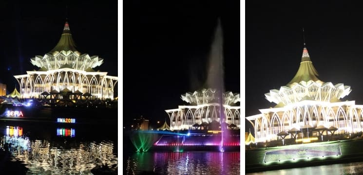 kuching waterfront sarawak