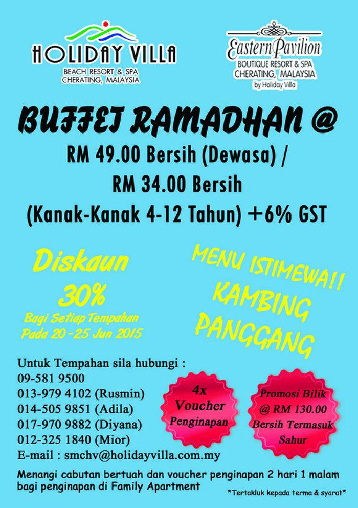 buffet ramadhan 2015 kuantan cherating