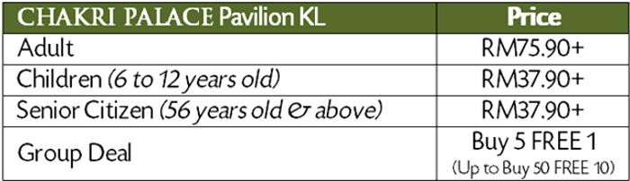 chakri express pavillion KL