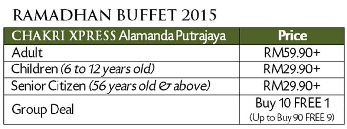 ramadhan buffet alamanda putrajaya 2015