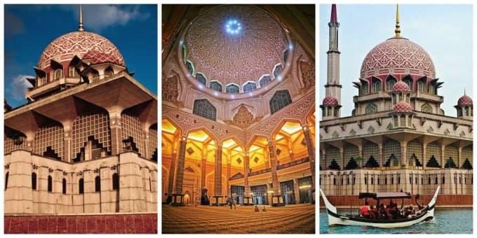 masjid putrajaya menarik cantik