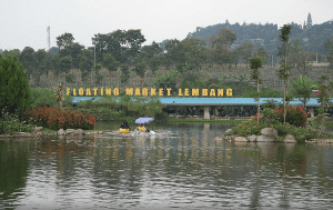 floating market bandung indonesia