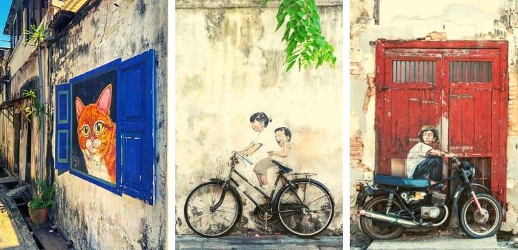 penang street art georgetown