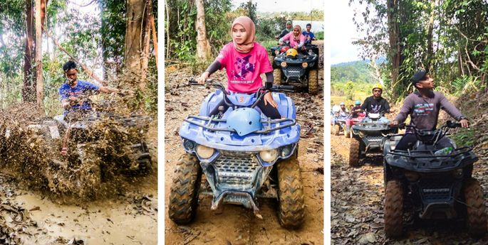 atv motor cross bukit besi