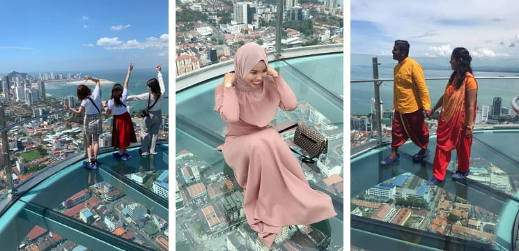 the top rainbow skywalk komtar