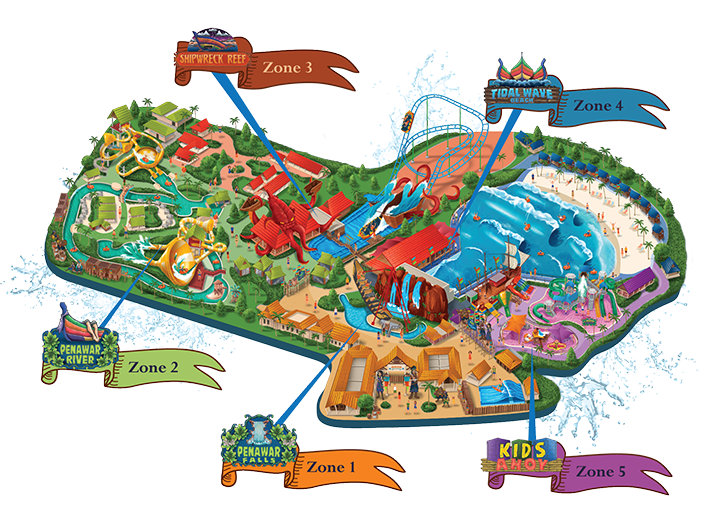 Desaru Coast Adventure WaterPark Zon Map