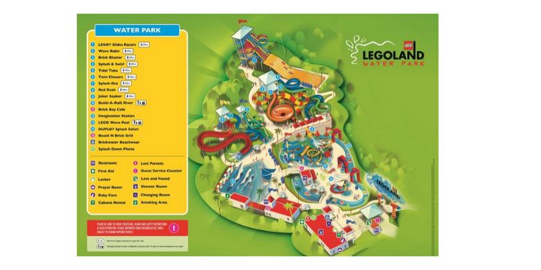 Peta Taman Tema Air Legoland Malaysia