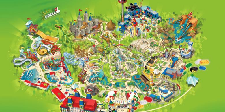 Peta Taman Tema Legoland Malaysia