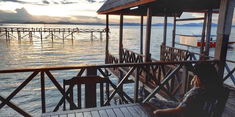 Matahari terbit dan terbenam di Pulau Mabul
