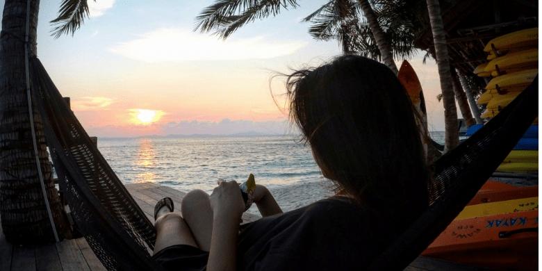 Melihat matahari terbit/terbenam