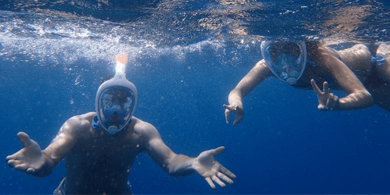 Pulau Tinggi - Menyelam permukaan (Snorkeling) di tapak terumbu karang / pulau