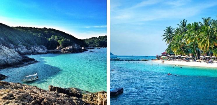 pulau perhentian terengganu dengan laut biru