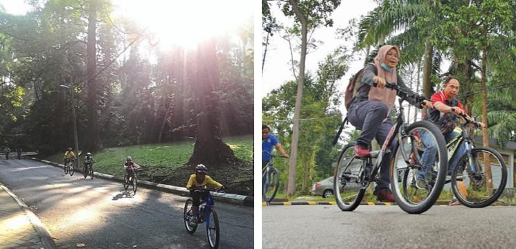 basikal 5 taman botani Shah Alam