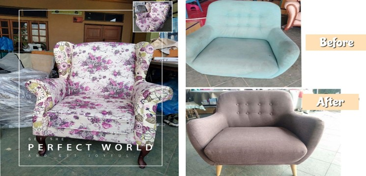 before and after repair sofa