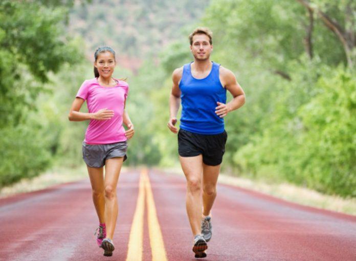 joging couple