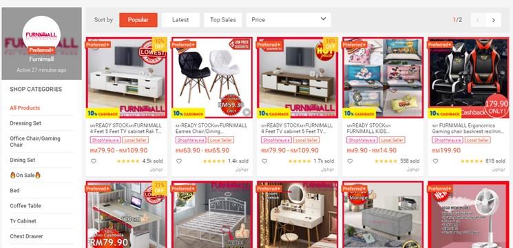 Furnimall Online Shop Shopee Malaysia