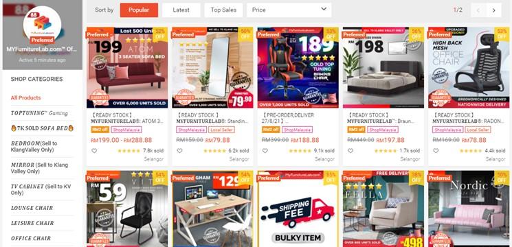 MYFurnitureLabOfficial Store Online Shop Shopee Malaysia