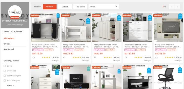 SYNERGY HOUSE FURNITURE Online Shop Shopee Malaysia