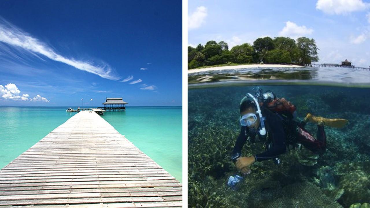 pulau tiga diving
