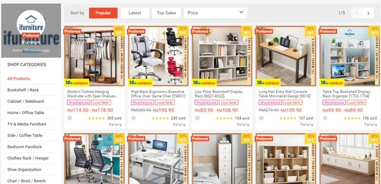 iFurniture Online Shop Shopee Malaysia