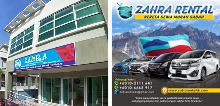Kereta Sewa Zahra Rental & Tours