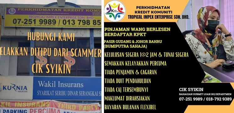 perkhidmatan Pinjaman Wang Berlesen Berdaftar Kpkt Pasir Gudang