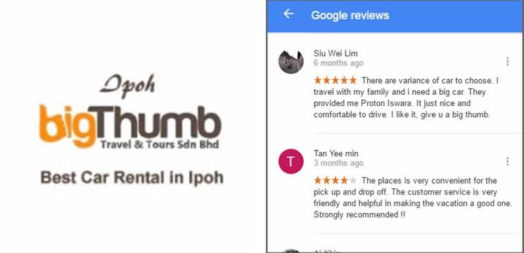 Big Thumb Rent a Car Ventures - Ipoh